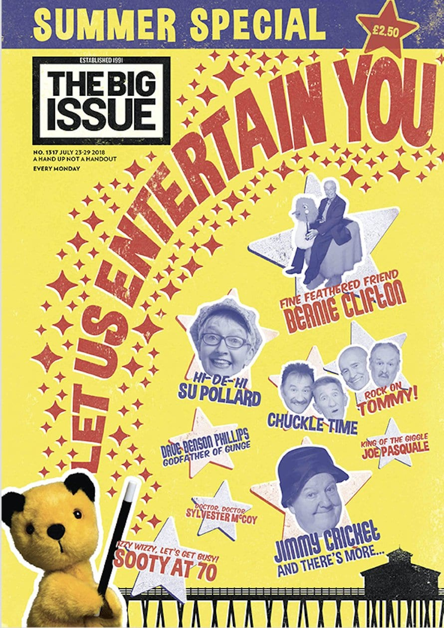 Jimmy Cricket features in the summertime special of The Big Issue