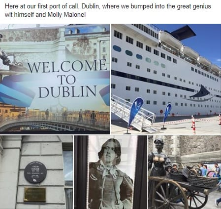 Jimmy Cricket is on performing on the Magellan which visited Dublin