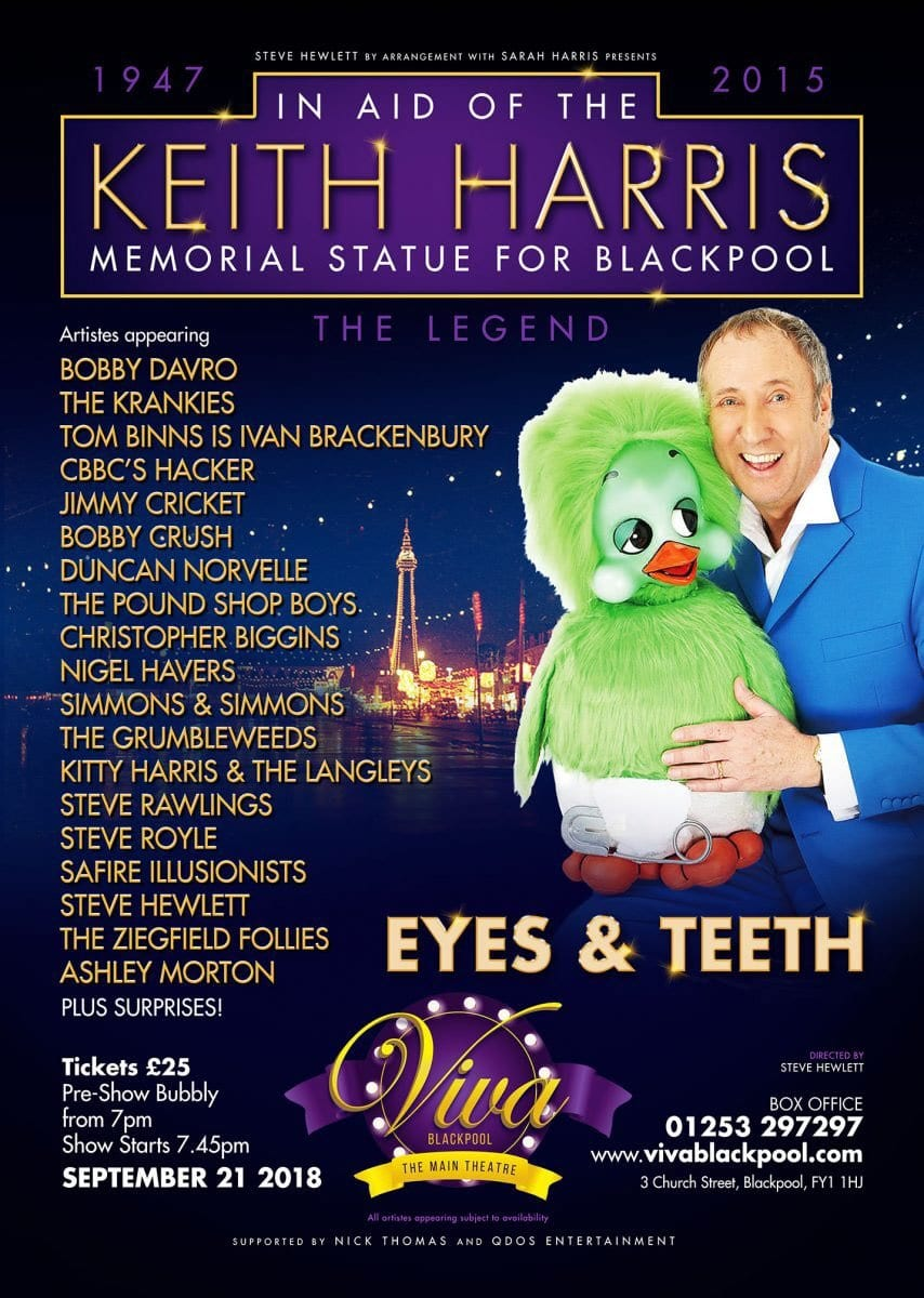 "What promises to be a fabulous, ""Variety Show"", organised by the great comedy talent and @ventriloquist29 Mr Steve Hewlett in memory of his mentor and our great mutual friend Keith Harris"