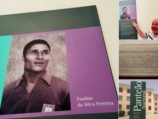 Jimmy Cricket visited the tomb of legendary Portuguese footballer Eusébio