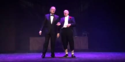 "Jimmy Cricket tweeted: My thanks to Jonathan Young and @ColinMeredith52 for tonight's performance of, ""No More Fiffing and Faffing"" and to the great reception we got from the audience @ThwaitesEmpire!"