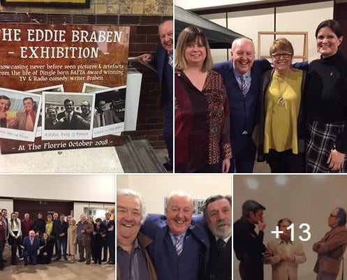 Been to this wonderful exhibition in honour of one of Liverpool's son's, the genius writer Eddie Braben, with his family, widow Dee and daughters Jane and Claire, with fellow acts, the great comedy actor Ricky Tomlinson and comic Tony Barton, alongside the Mayoress and other friends to celebrate his work and life, (today is also his Birthday), it runs for two weeks at this fabulous venue #TheFlorrie 🎭