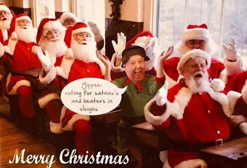 My Christmas card 2018, wishing all my social media friends a Merry Christmas ? with Love and Best Wishes from me and Mrs C.