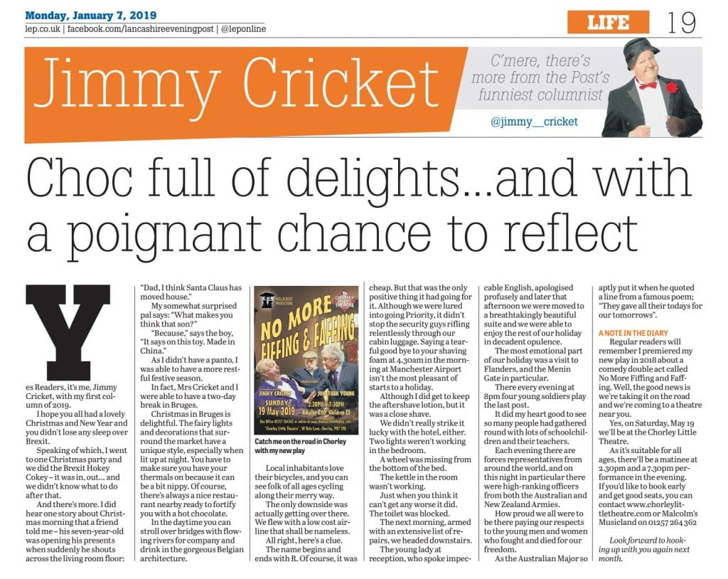 Hi everyone! With the New Year comes my January 2019 @leponline column for you to have a little read at!