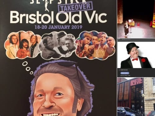 "Enjoyed performing @SlapstickFest in the, ""Weston Studio"", at the Old Vic here in the great city of Bristol 🎭"
