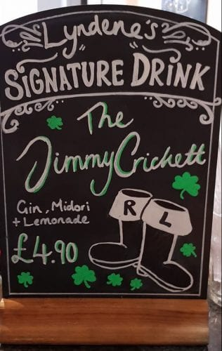 Wow how lovely they named a drink after me! Thank you @LyndeneHotel A must for St Patrick's Day Celebrations!