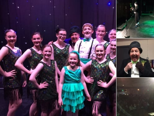 "It was a lovely, ""St Patrick's Day"", celebration today @BRCTheatreGroup my thanks to Leigh and all the volunteers with Alex on sound and Nick on lights and Guy the stage manager alongside Dansworks Dance Academy and Mrs C. singing a few Irish songs!"