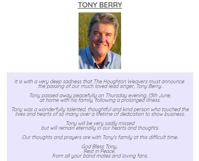 Tony Berry was indeed a pleasure to know! He was kind, loving and a true gentleman
