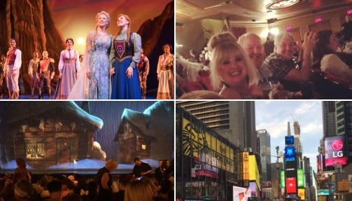 """Been to see with my family, this wonderful musical, taken from the classic Disney film, """"Frozen"""", at the St James Theatre, on Broadway this evening!"""
