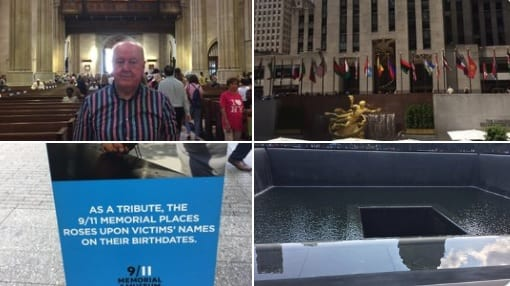 Our last day in New York and we went to celebrate Mass in the iconic St Patrick's Cathedral then onto 9/11 Memorials where once the Twin Towers stood, a day etched in all our minds, now an epitaph to all those who died, and also a testament to man's lack of humanity and empathy!