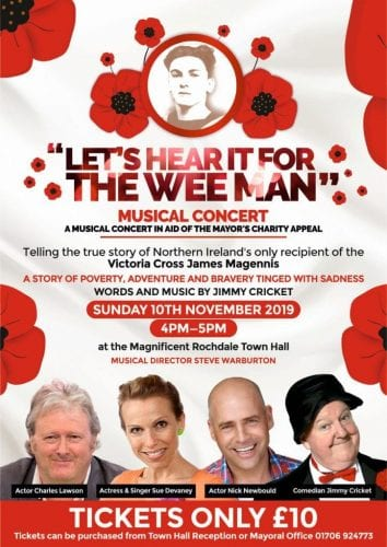 The musical will be performed on Remembrance Sunday