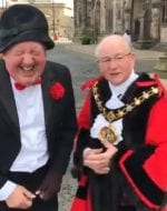 Jimmy and @RochdaleMayor Coun Billy Sheerin having a good old yarn about the James Magennis play