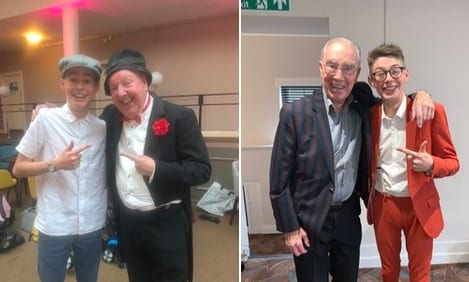 tommy J entertainer @tommyents · Oct 13 What an amazing gig at the Derby conference centre ! With a amazing lovely man Jimmy Cricket ! And what a pleasure to see mr Bernie Clifton ! #pros #comehere #comedy #crazy #juggler @jimmy__cricket @bernieclifton_