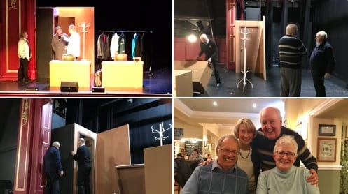 "Wonderful afternoon at the @gladthea [Gladstone Theatre] with a performance of the Comedy, ""No More Fiffing and Faffing"", my thanks to Ken our set designer, Jordan the manager, Nathan on sound and lighting and all the volunteers! Great also catching up with old friends for an evening meal!"