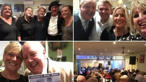 "My thanks for a wonderful night at, ""Coopers Bar"" in Spain with owners Chanade and Doreen, fellow act, our great friend singer and compère @steviespit and met Michele from 25yrs ago, when as a nurse I visited her children's hospital and it made the local paper in Great Yarmouth!"