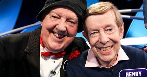 Henry Kelly and Jimmy Cricket are two of the contestants in the Ireland-themed edition of Pointless