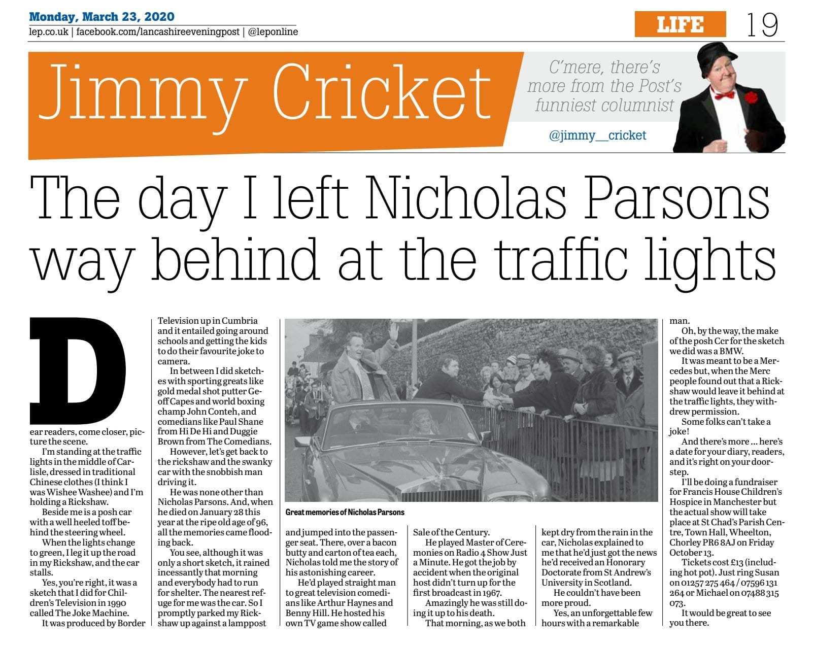 Hi Folks! Here is my @leponline article where I pay my tribute, to the great Radio and Television Presenter, straight man and actor, Christopher Nicholas Parsons CBE