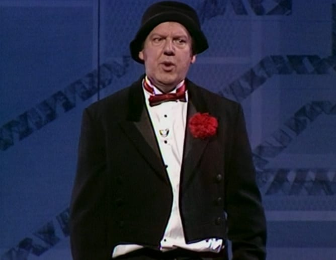 Jimmy Cricket is seen performing on Blackpool Big Night Out