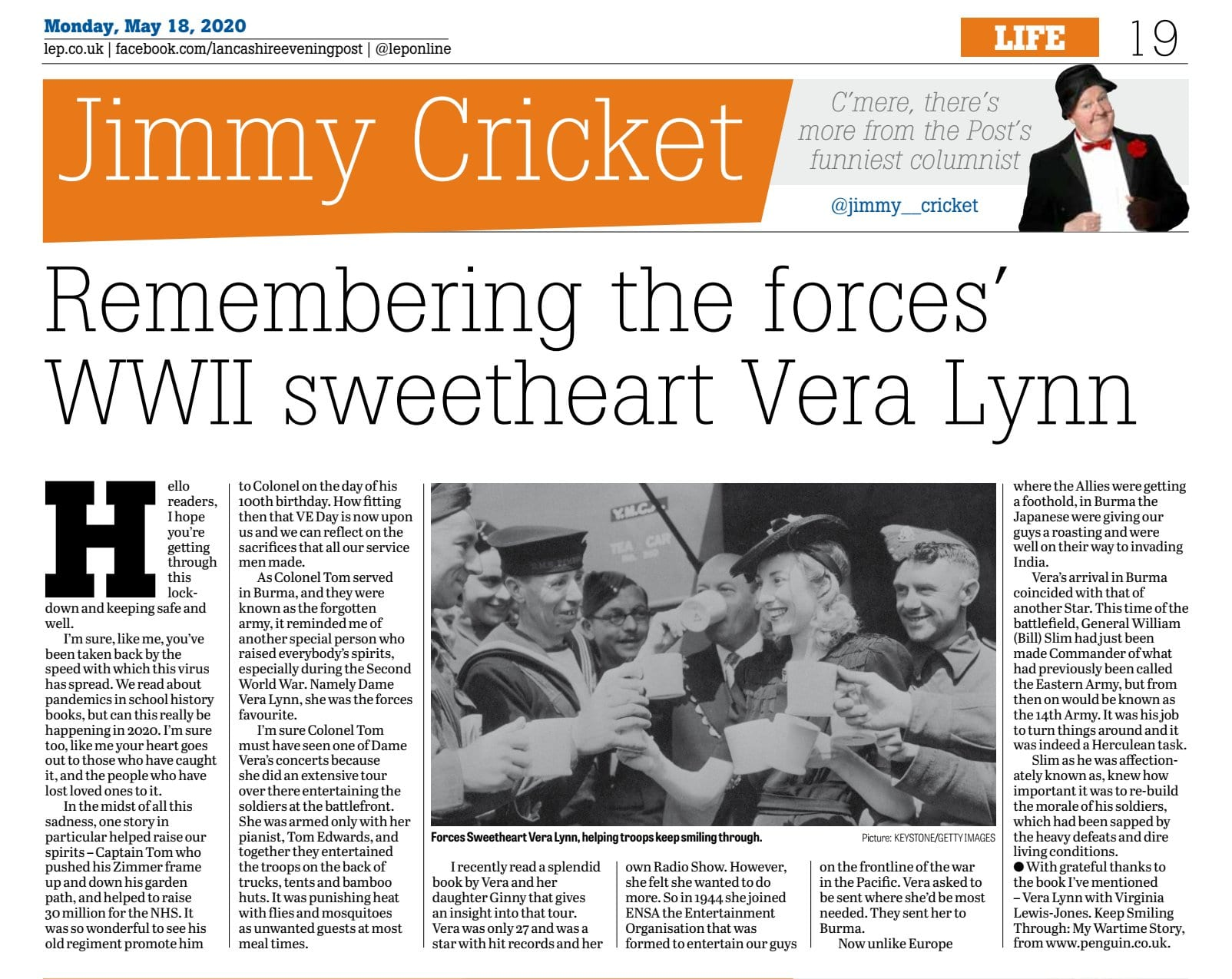 Hi folks! I had no idea when I wrote this May @leponline column it would be as an epitaph to this wonderful performer and humanitarian. R.I.P. our Vera!