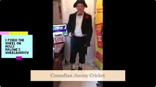 The legendary Molly Malone was the subject of one of Jimmy Cricket's latest social media videos.