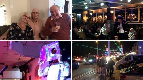 Had a great social distancing, hand sanitising, mask wearing evening with our wonderful in-laws Ali and Jim Martin at Blackpool's favourite @LyndeneHotel last night alongside the eye catching and traditional illuminations!