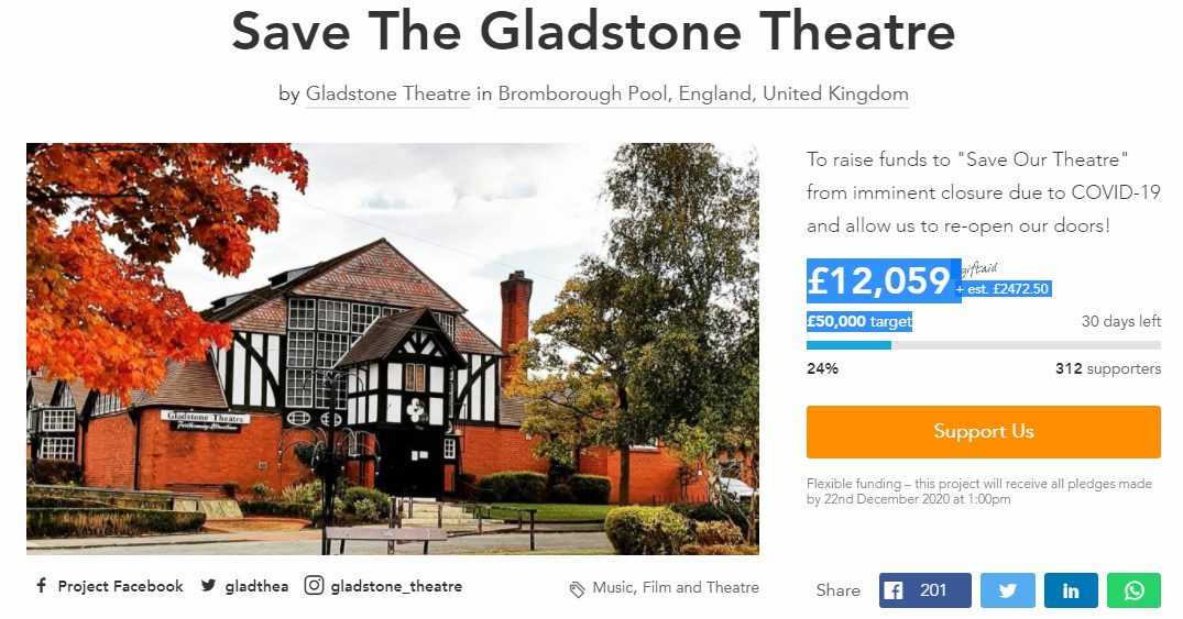 SAVE OUR THEATRE - SAVE THE GLADSTONE