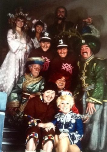 So sad about the passing of Barbara Windsor, the enclosed photo is a picture of the Aladdin cast, at the Theatre Royal Nottingham Babs was principal boy, and her vitality and energy light up the stage, she will be sadly missed by all her fellow pros and fans alike! R.I.P. lovely lady!