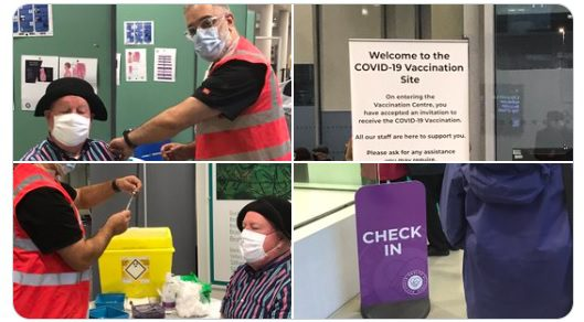 "Jimmy Cricket posted after getting his first jab against Covid: My grateful thanks to @RochdaleCouncil and JivaDr Dr Mo MBE and all the nurses and hard working staff this morning @RDaleRiverside for the  vaccine programme that is being rolled out! As Humphrey Bogart said, ""Here's Looking At You Kid"". #COVID19Vaccines"