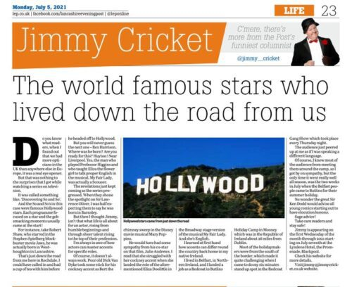 Hollywood stars lived just down the road