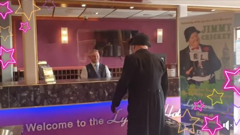 The plaudits flowed when Jimmy Cricket made his eagerly-awaited return to the Lyndene Hotel in Blackpool